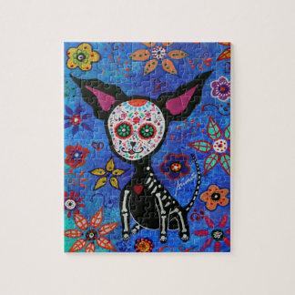 Chihuahua Dia de los Muertos Jigsaw Puzzle