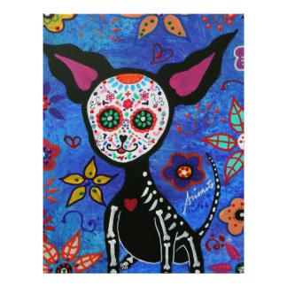 Chihuahua Dia de los Muertos Letterhead
