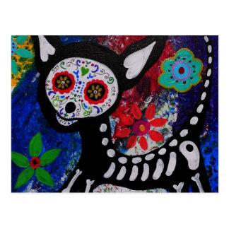Chihuahua Dia De los Muertos por Prisarts Tarjetas Postales