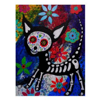 Chihuahua Dia De los Muertos por Prisarts Postales
