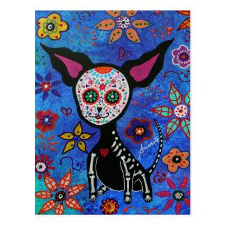 Chihuahua Dia de los Muertos Post Card