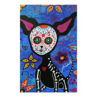 Chihuahua Dia de los Muertos Stationery