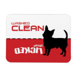 Chihuahua, Dishwasher Magnet - Licked Clean