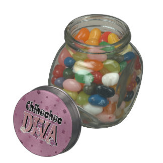 Chihuahua DIVA Jelly Belly Candy Jars