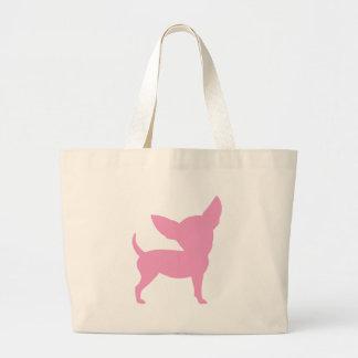 Chihuahua divertida rosada bolsa de mano
