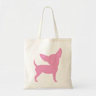 Chihuahua divertida rosada bolsas