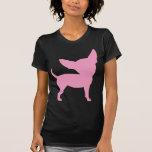 Chihuahua divertida rosada camisetas