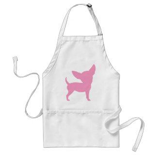 Chihuahua divertida rosada delantal