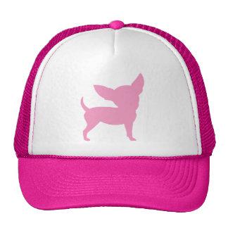Chihuahua divertida rosada gorros bordados