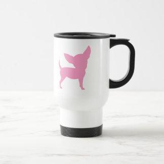 Chihuahua divertida rosada taza