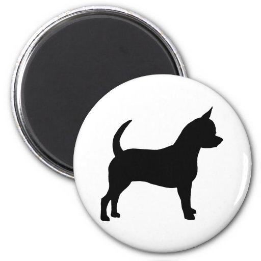 Chihuahua Dog 2 Inch Round Magnet
