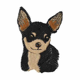 Chihuahua Dog Art Embroidery Shirt