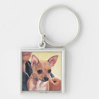 Chihuahua Dog Art Keychain