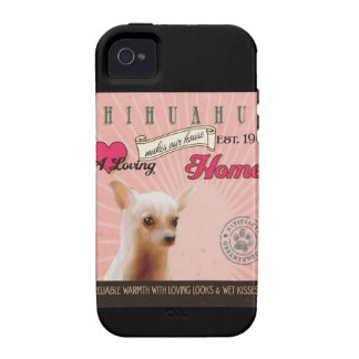 Chihuahua Dog Art Poster- Makes Our House Home Case-Mate iPhone 4 Cover