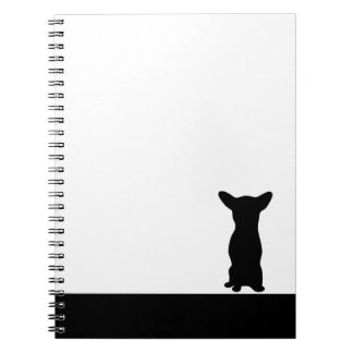 Chihuahua dog black silhouette notebook
