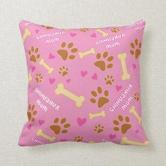 Chihuahua Dog Breed Mom Gift Idea Throw Pillow