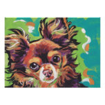 Chihuahua Dog Bright Pop Art  poster print