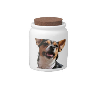 Chihuahua Dog Candy Jar