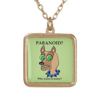 Chihuahua Dog Cartoon Head Gold Plated Necklace