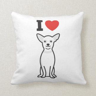 Chihuahua Dog Cartoon Throw Pillow