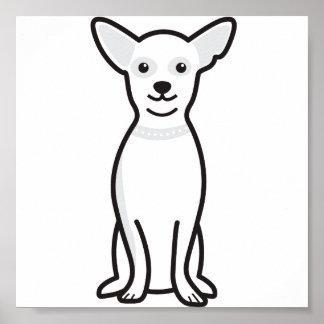 Chihuahua Dog Cartoon Poster
