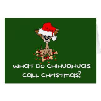 Chihuahua Dog Christmas Cards