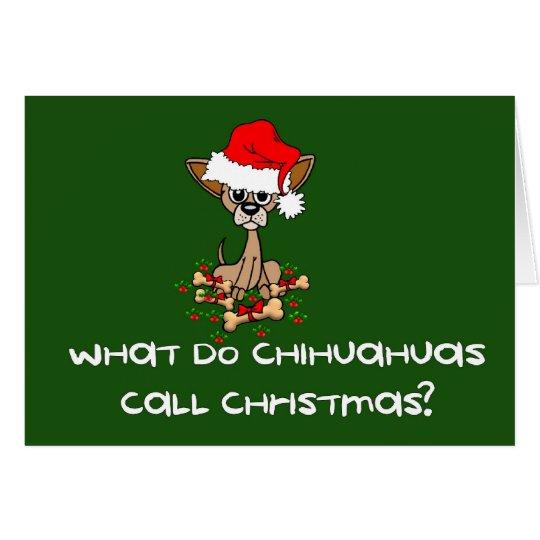 Chihuahua Dog Christmas Card