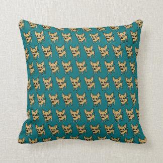 Chihuahua Dog Cushion - Blue Pillows