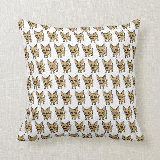 Chihuahua Dog Cushion - White Throw Pillow