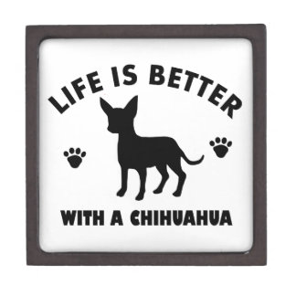 chihuahua dog design keepsake box