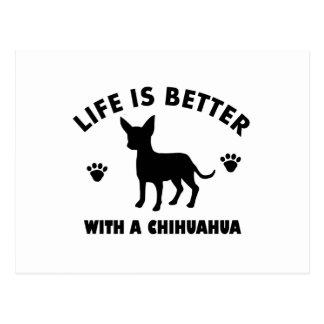 chihuahua dog design postcard