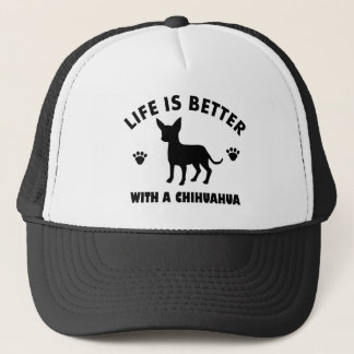 chihuahua dog design trucker hat