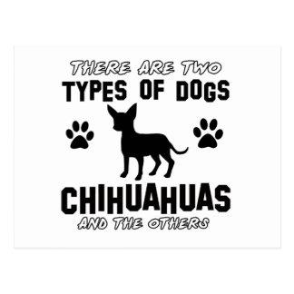 chihuahua dog designs postcard