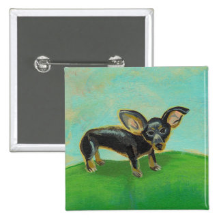 Chihuahua dog from original painting pets on sofa button