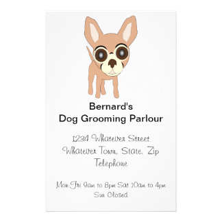 Chihuahua Dog Grooming Parlour Flyer