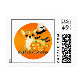 Chihuahua Dog Halloween Stamps
