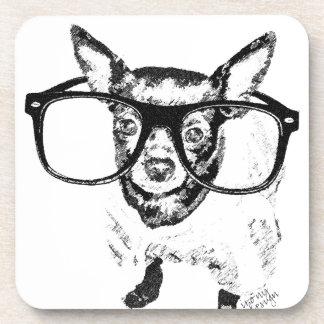 Chihuahua Dog Illustration Drawing Coaster