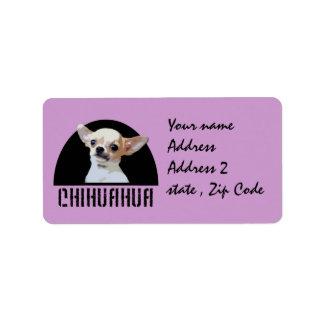 Chihuahua dog address label