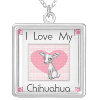 Chihuahua Dog Love Necklace