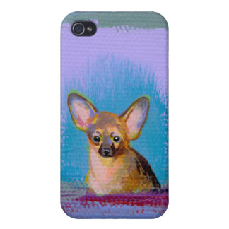 Chihuahua dog lover art cute fun original painting iPhone 4/4S cover