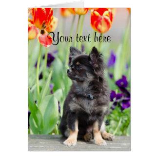 Chihuahua dog lover cute custom text note card