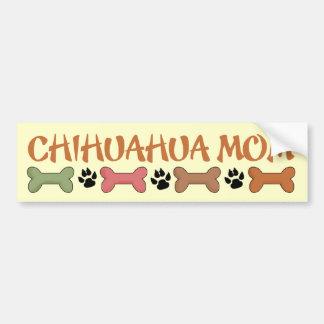 Chihuahua Dog Mom Bumper Sticker