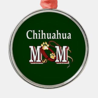 Chihuahua Dog Mom Gifts Metal Ornament