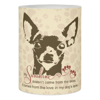 Chihuahua Dog My Sunshine Flameless Candle