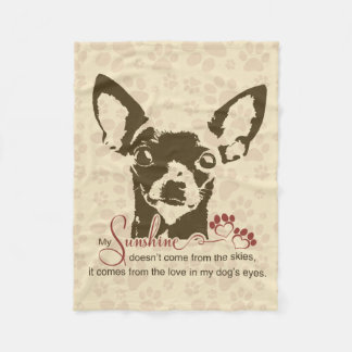 Chihuahua Dog My Sunshine Fleece Blanket
