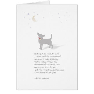 Chihuahua Dog Pet Sympathy-Female-Insert Name Card