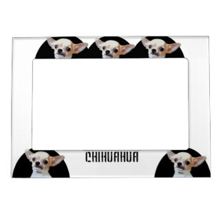 Chihuahua dog picture frame magnet