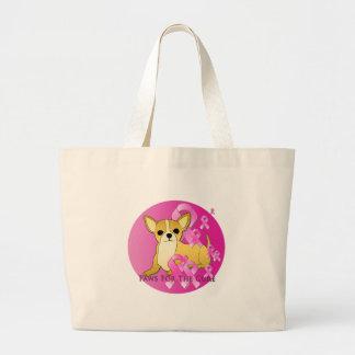 Chihuahua Dog Pink Ribbon Bag