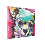 Chihuahua Dog Pop Art on Stretched Canvas Gallery Wrapped Canvas