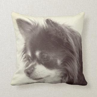 Chihuahua Dog Portrait Throw Pillow